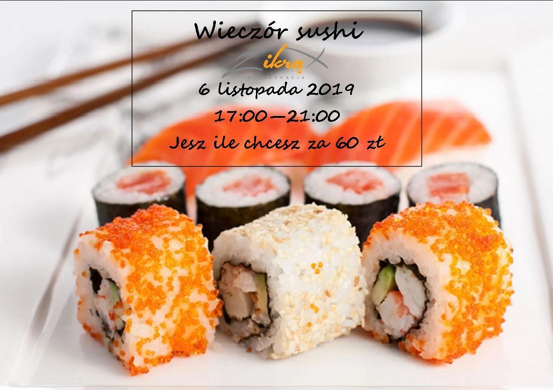 Wieczór sushi 6 listopada