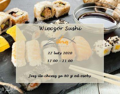 Wieczór Sushi 27 luty